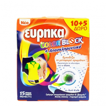 ΕΥΡΗΚΑ CLR BLOCK+ANTIKALK 10 ΦΥΛΛΑ+5 TMX Δ