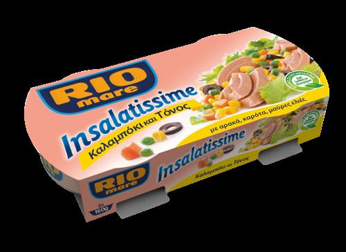 RIO-MARE ΤΟΝΟΣ INSALATISSIME ΣΑΛ.ΚΑΛΑΜΠ. 2x160gr