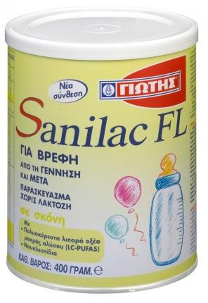 Γιώτης Sanilac FL Βρεφικό Γάλα  400gr