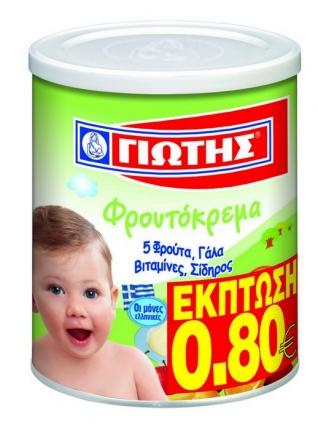 Γιώτης Φρουτόκρεμα 5 Φρούτα 300gr Έκπτωση -0,80€