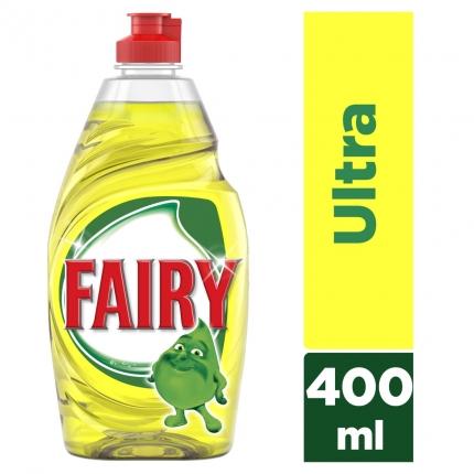 Fairy Ultra Λεμόνι υγρό πιάτων 400ml