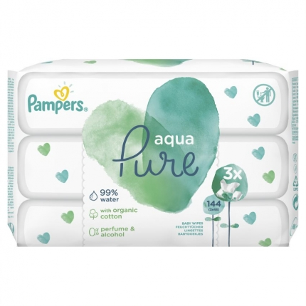 PAMPERS WIPES PURE 6X3X48