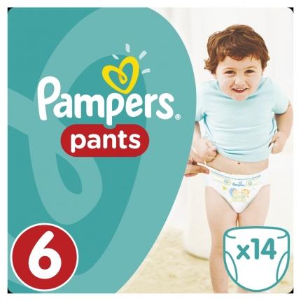 Pampers Pants Μέγεθος 6 (15+kg), 14 Πάνες-βρακάκι cp