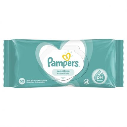 PAMPERS WIPES SENSITIVE 12Χ52