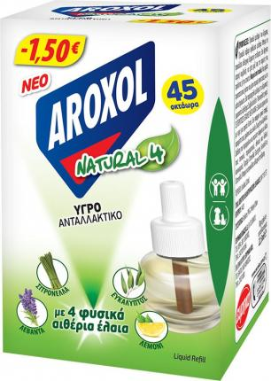AROXOL ΥΓΡΟ REFILL NATURAL FOUR 1,50€