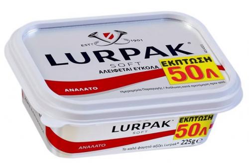 ARLA LURPAK SOFT ΑΝΑΛΑΤΟ ΣΚΑΦΑΚΙ 225gr -0.50€