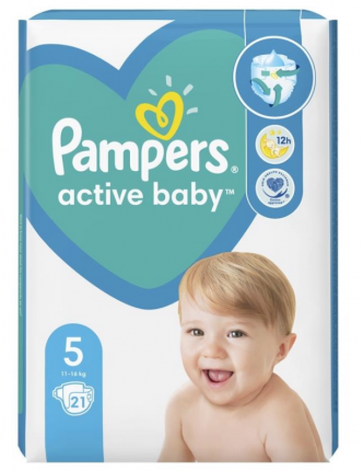 PAMPERS ACTIVE BABY ΜΕΓ 5 4X21 CP