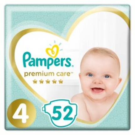Pampers Premium Care Μέγεθος 4 (8-14kg), 52 Πάνες
