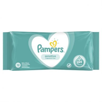 PAMPERS WIPES SENSITIVE 24Χ12 TRAVEL