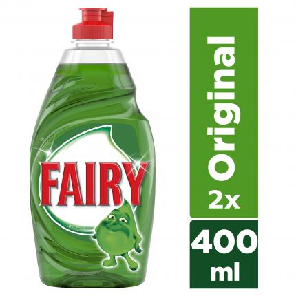 Fairy Original Υγρό Πιάτων 2 x 400 ml (ΤΟ ΔΕΥΤΕΡΟ -30%)