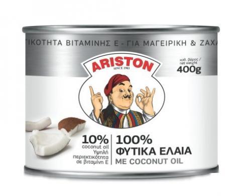 ARISTON ΒΟΥΤΥΡΟ 400gr ΦΥΤΙΚΑ ΕΛΑΙΑ 10% COCONUT OIL