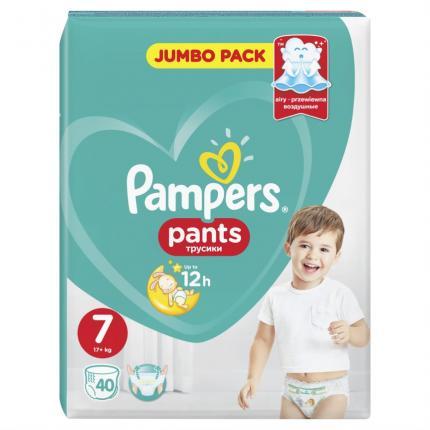 Pampers Pants Μέγεθος 7 (17+kg), 40 Πάνες-βρακάκι