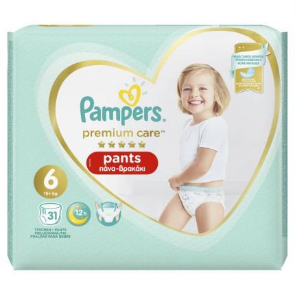 PAMPERS PREMIUM PANTS ΜΕΓ 6 3X31 JUMBO